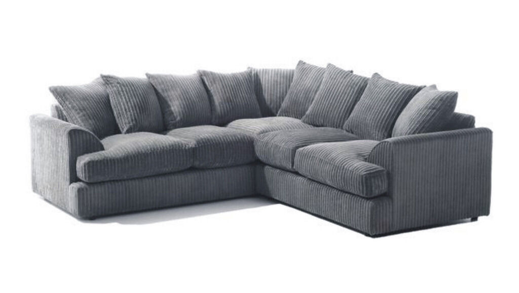 Brand New Jumbo Cord Corner Sofa Available In Diffe Colours