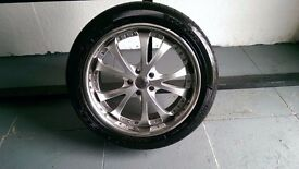 ALLOYS X 4 OF 20 INCH RS/SUV/4X4/PCD/IS/5 AT/114.3MIL/IN GOOD CONDITION WITH GOODYEAR EXCELLENCE TYR