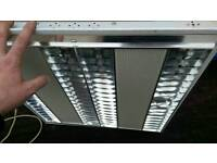 Office style modular 600 x 600 t5 light fitting suitable for a suspended ceiling