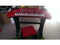 Musical keyboard and chair