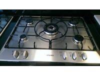Ex display 5 ring Stoves gas hob stainless steel