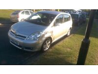 7 seater Toyota corolla verso silver very good condition 8 months mot