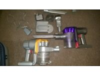 dyson hand held hoovers with chargers spares or repairs