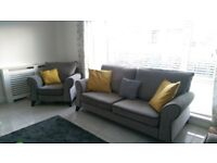 3 Seater Sofa and 2x Arm Chairs