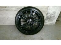 ALLOYS X 5 OF 20 INCH GENUINE RANGEROVER SPORT HSE OR DISCOVERY FULLY POWDERCOATED IN BLACK/SPARKLE