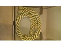 Laura Ashley gold rope Tie backs