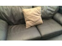 2 Pc Dark Brown Leather Sofa