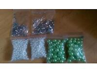 Pearl like beads and diamontes