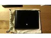 New Genuine MontBlanc Meisterstück 6cc Mens Black Leather Card Wallet 14548