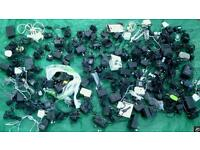 Joblot apprx 100 electrical ac to dc adapters transformers
