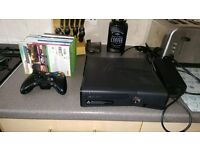 XBOX 360 250GB WITH CONTROLLER AND GAMES