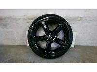 ALLOYS X 4 OF GENUINE 20 INCH AUDI Q7 S/LINE 5/SPOKE FULLY POWDERCOATED INA STUNNING HIGHGLOSS BLACK