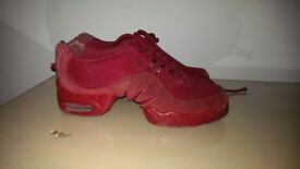 Bloch jazz shoes, gorgeous red, used