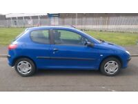 Peugeot 206 1.2 LX 3dr Hatchback 1owner Low Miles Full S/H