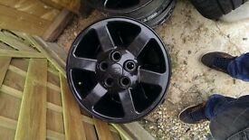 landrover discovery wheels no tyres, black