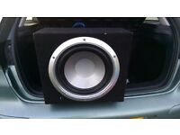 Car sub and amp