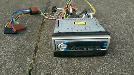 Panasonic CD player with Ford adaptor plugs and facia