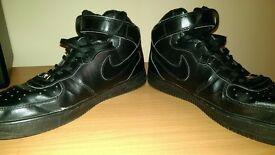Nike Air Force 1 Black Uk 10 Men's Trainers
