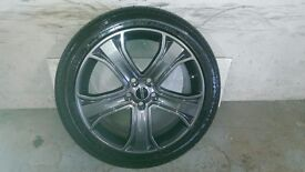 ALLOYS X 4 OF 20 INCH GENUINE RANGEROVER /DISCOVERY AUTOBIOGRAPHY FULLY POWDERCOATED IN ANTHRACITE