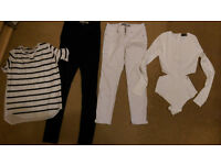 Big bundle of women's clothes size S. Collect a bargain!19 items!only £40! tops,trousers,body suits.