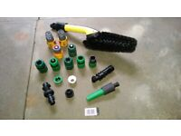 Hozelock/Karcher/connectors BUNDLE /attachments/sprayer/wheel brush / Glasgow / FREE DELIVERY