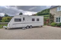 Swift Conqueror 645 Lux 2007 twin-axle caravan with Ventura awning