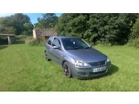 2004 CORSA with 10 MONTHS MOT comes with PRIVATE PLATES worth £250+ and a TANK OF FUEL worth £40