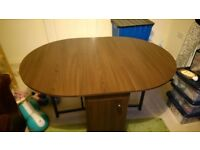 Walnut Effect Folding Dining table and chairs