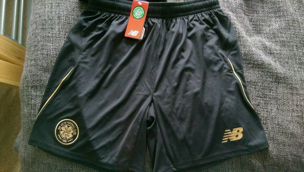 Celtic away shorts Black