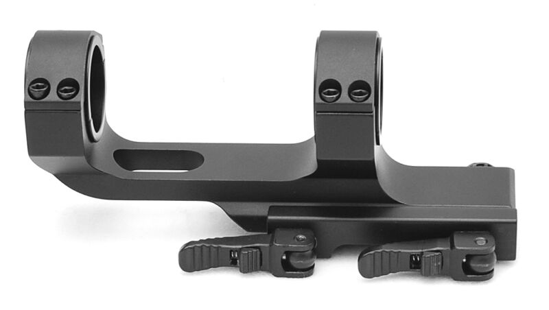 Hammers One Piece Offset 30mm Scope Mount w/ 1inch inserts Picatinny QD Cam Lock