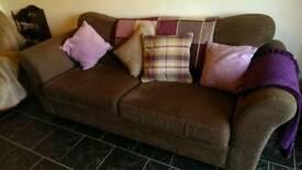 Next brown sofa settee
