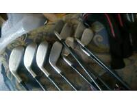 Adams a12is irons regular graphite 3 to gap wedge 9 irons in total superb set vice
