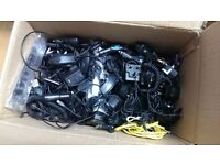 Box of Cables / Adaptors mobile phone chargers 100+