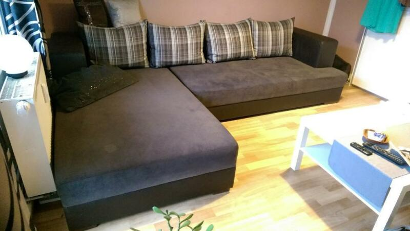 gro e und breite couch in dunkelbraun wie neu in dresden. Black Bedroom Furniture Sets. Home Design Ideas