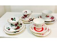 Tea Cup Trios Roses