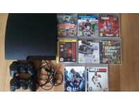 Sony Playstation 3 Slim 120 GB Charcoal Black Console PS3