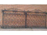 Genuine 1930`s Wrought Iron Garden Gates