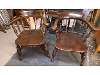 Pair of Antique Captains Chairs