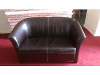3 piece suite, faux leather, bucket chairs