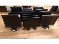 "Bulk Buy - 15x PC Monitors- 15""-17.5"" Screen Sizes- 1x BenQ, 2x Asus, 6x Dell, 6x IBM- £150 for all"
