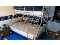 Silver Bunk Bed (single and double bunk)