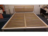 King Size Bed frame, very solid construction, dismantled for easy collection