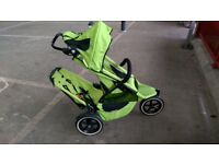 Apple green Phil &ted sport double buggy