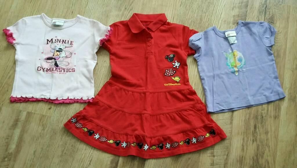 Walt Disney World Girls Dress Tshirts Approx Age 3 Years In