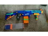 Nerf retaliator and strongarm gun