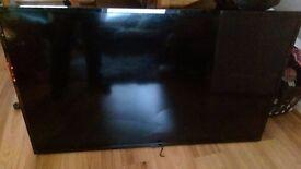 "HITACHI 50 inch TV (Broken screen) + original NEW remote. 50"" TV Model: 50HYT62U"