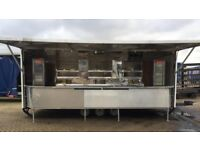 Truck with generator & catering trailer. Breakfast burgers & fish n chips