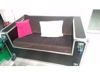 (1) Converted Flight Case Sofa/Suite (Vintage Style)