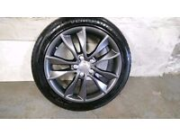 ALLOYS X 4 OF GENUINE 17 INCH AUDI A3 FULLY POWDERCOATED IN A STUNNING NEW SPEC ANTHRACITE VERY NICE