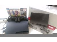 Playstation 3 (PS3) Slim 320GB (boxed) including games and official controllers